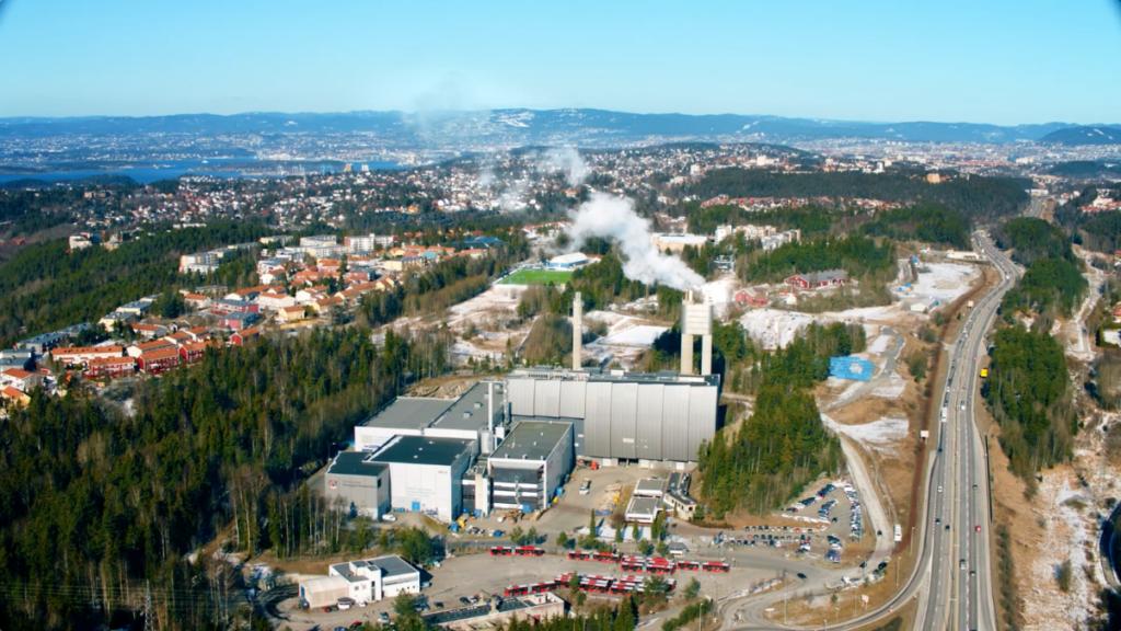 Anlegget til Fortum Oslo Varme på Klemetsrud.